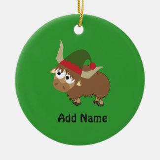Yak Christmas Elf Christmas Ornament