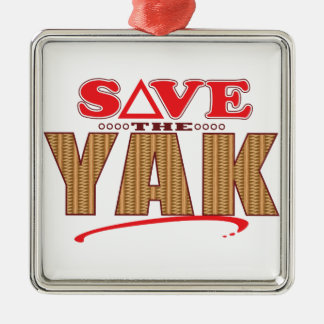 Yak Save Silver-Colored Square Decoration