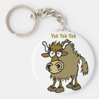 YAK YAK YAK Talking IS Life! Key Ring