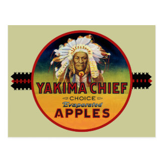 Yakima Chief Apple Crate Label Postcard