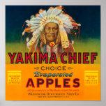 Yakima Chief Apple Label - Yakima, WA Posters