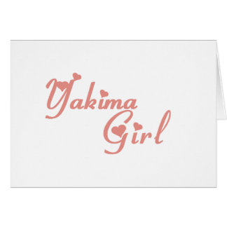 Yakima Girl tee shirts Cards