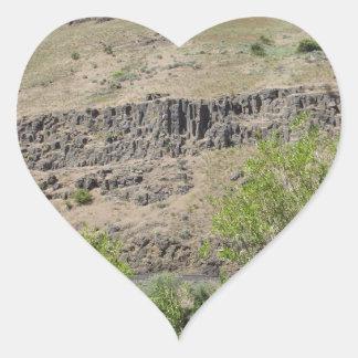 Yakima River Canyon Heart Sticker