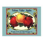 Yakima Valley Apples Vintage Fruit Crate Label Art Post Card
