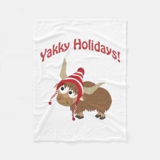 Yakky Holidays! Winter Yak Fleece Blanket