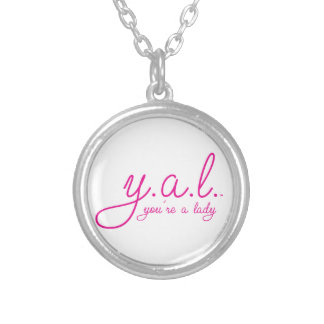 YAL - You're a Lady™ Round Pendant Necklace
