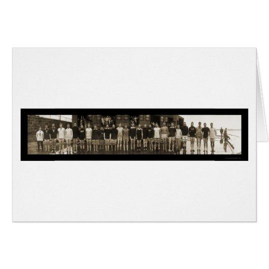 Yale Crew Team & Subs Huge Photo 1910 Card