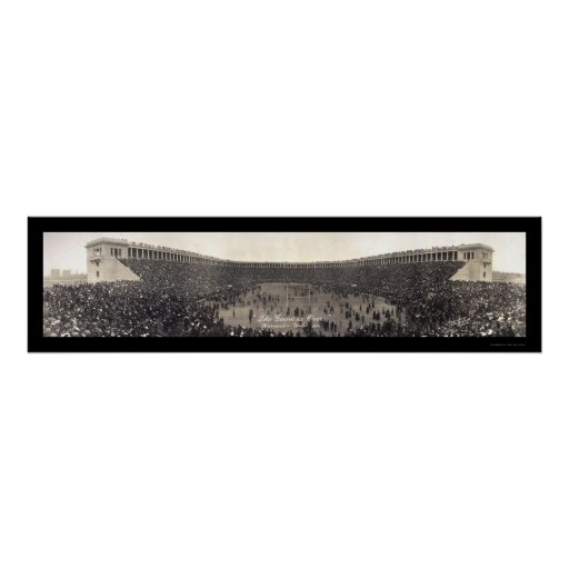 Yale Harvard Game Over Photo 1911 Poster