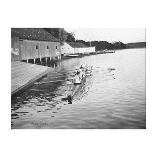 Yale University Rowing Crew Team Photograph Canvas Print