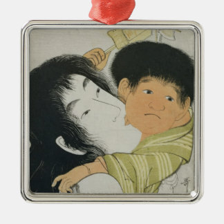 Yama-Uba and Kintoki Christmas Ornament