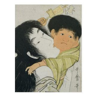 Yama-Uba and Kintoki Postcard