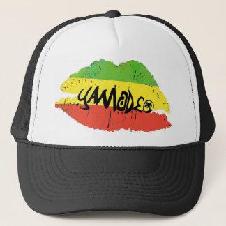Yamadeo Kiss white SHIRT Trucker Hat