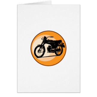 Yamaha FS1E 'FIZZY' Classic moped Greeting Card