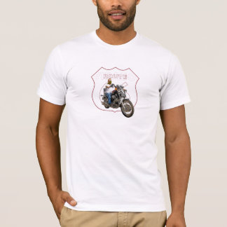 Yamaha Virago Classic Motorcycle Route 66 T-Shirt