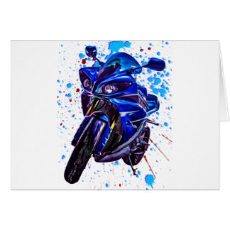Yamaha YZF R1 Art Print Greeting Card