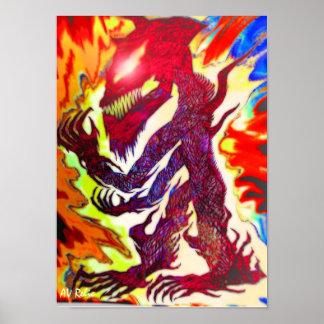 Yamahachi Wolf Poster