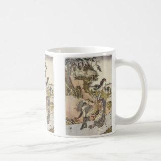 Yamauba and a Monkey, Shunsho, 1791 Mug