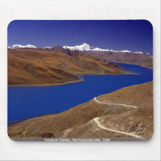 Yamdrok Yamtso the turquoise lake Tibet Mouse Pads