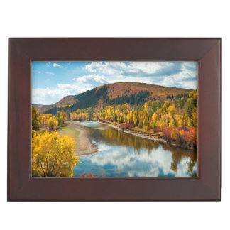 Yampa River In Autumn Memory Boxes