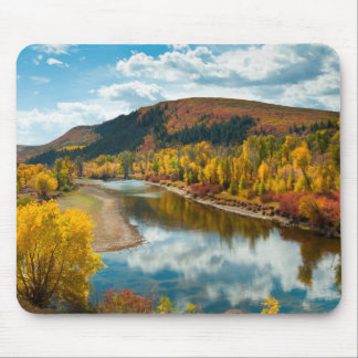 Yampa River In Autumn Mouse Mat