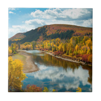 Yampa River In Autumn Tile