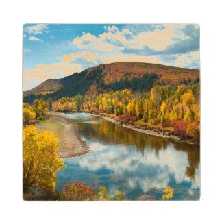 Yampa River In Autumn Wood Coaster