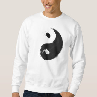 Yang - Ink   Basic, White Suéter Sweatshirt