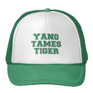 Yang tames tiger mesh hat