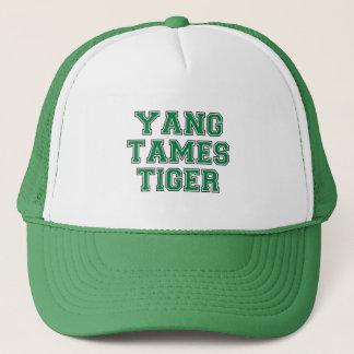 Yang tames tiger trucker hat