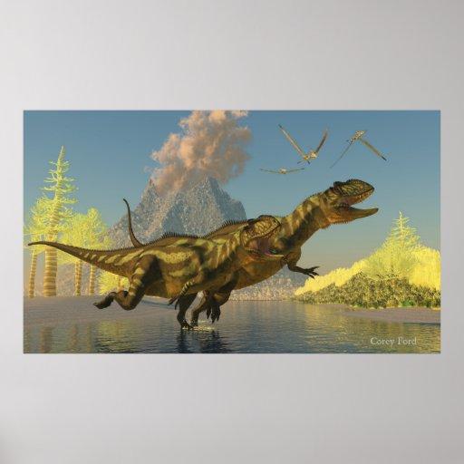 Yangchuanosaurus Dinosaurs Poster