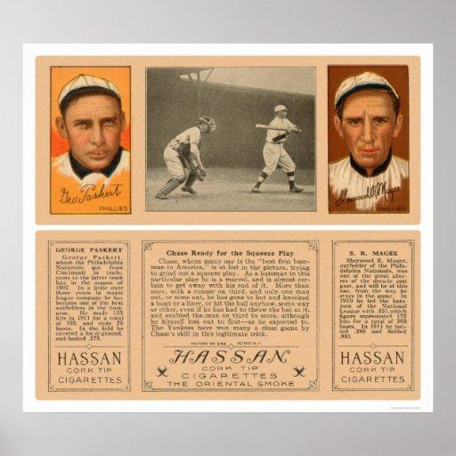 Yankee At Bat Phillies Baseball 1912 Posters