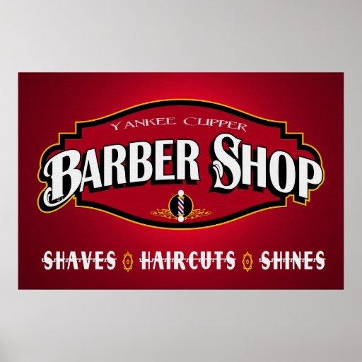 Yankee Clipper Barber Shop 36 x 24 Poster