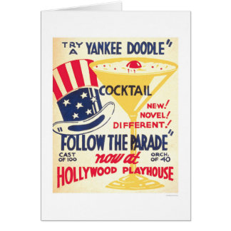 Yankee Doodle Cocktail 1938 WPA Greeting Card
