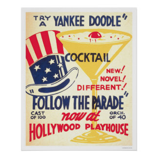 Yankee Doodle Cocktail 1938 WPA Posters
