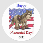 Yankee Doodle Dandy Classic Round Sticker