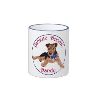 Yankee Doodle Dandy Pup Coffee Mugs