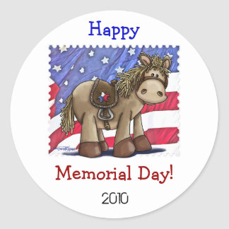 Yankee Doodle Dandy Round Stickers