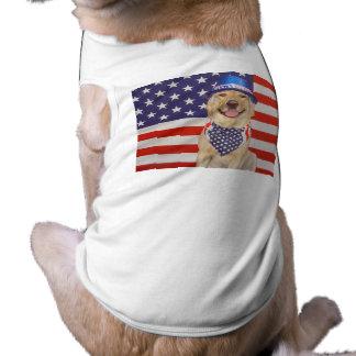 Yankee Doodle Doggie Sleeveless Dog Shirt