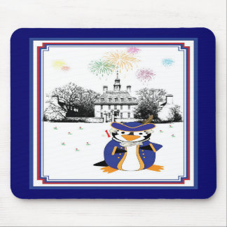 Yankee Doodle Penguin Mousepad