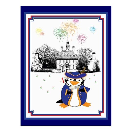 Yankee Doodle Penguin Postcard
