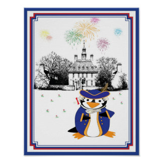 Yankee Doodle Penguin Print