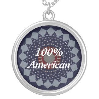 Yankee Doodle Round Pendant Necklace