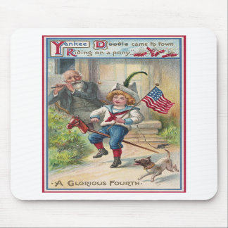 Yankee Doodle Vintage Fourth of July Mousepad