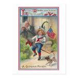 Yankee Doodle Vintage Fourth of July Postcard