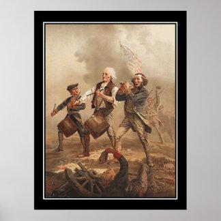 Yankee Doodle Vintage Poster Print