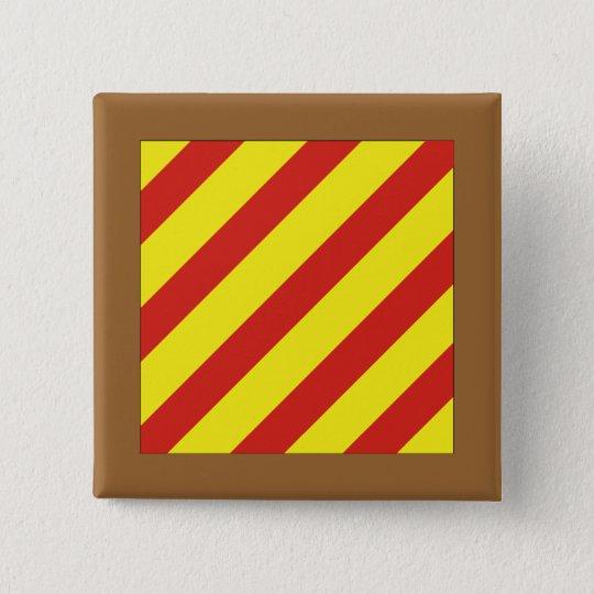 Yankee (Y) Signal Flag 15 Cm Square Badge