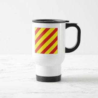 Yankee (Y) Signal Flag Stainless Steel Travel Mug