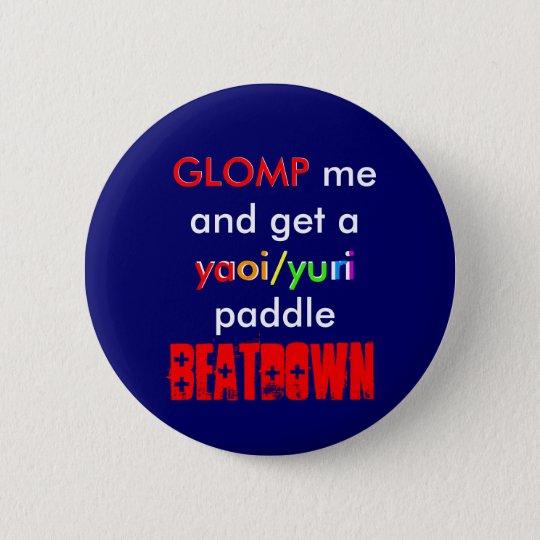 Yaoi/Yuri Paddle BEATDOWN 6 Cm Round Badge
