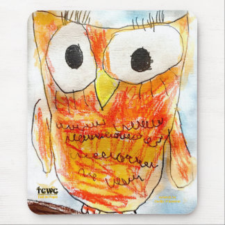 YAP | Designer Owl | Youth Art Project Mouse Mat