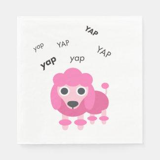 Yap Poodle Cute Emoji Disposable Napkins